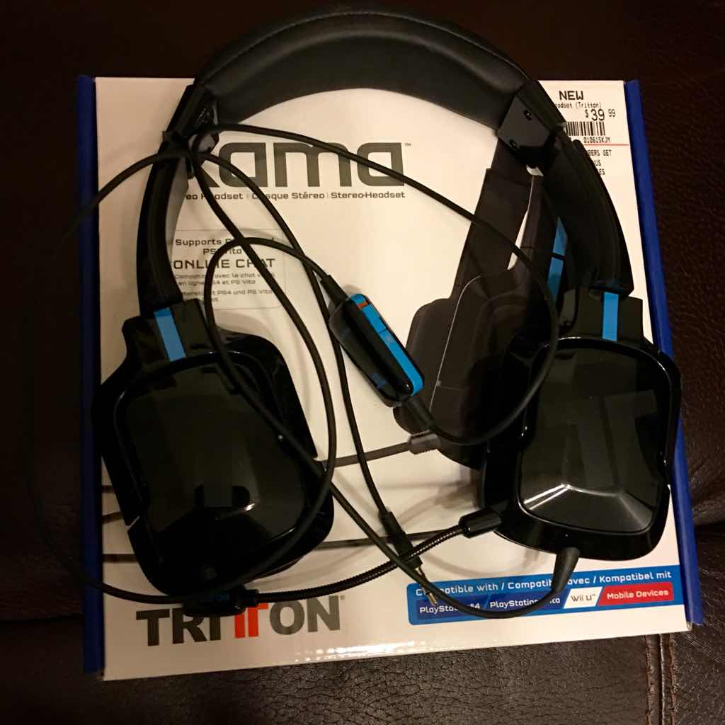 tritton kama headset for ps4 ps3 wii u headsets mics accessories like new gameflip. Black Bedroom Furniture Sets. Home Design Ideas