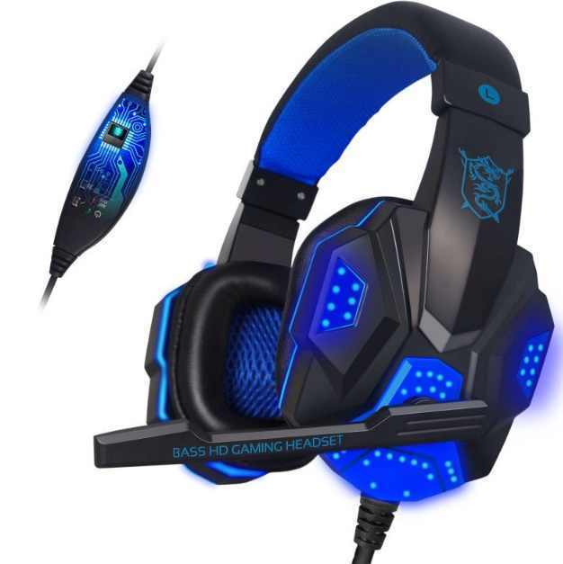 gaming headset led light ps4 xbox pc headsets mics. Black Bedroom Furniture Sets. Home Design Ideas